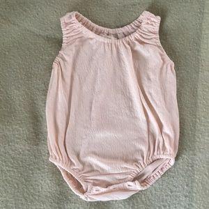Boy + Girl Organic Romper in Pink, Sz 12-18 months